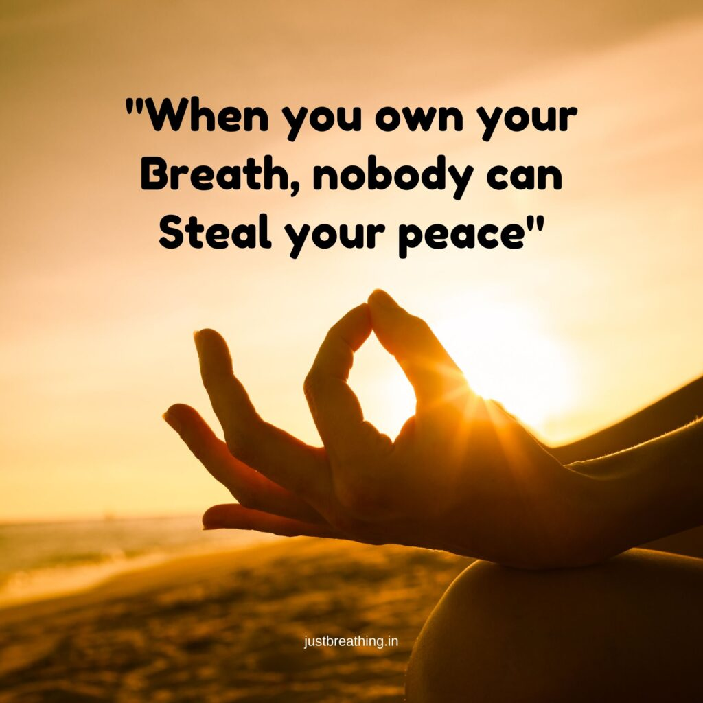 Amazing meditation quotes and captions for breath