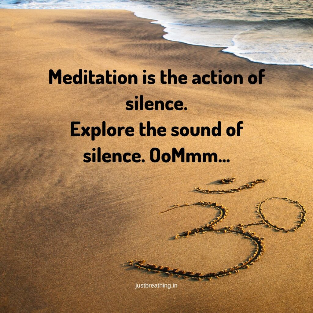 Best Quotes On Meditation for silence of OM