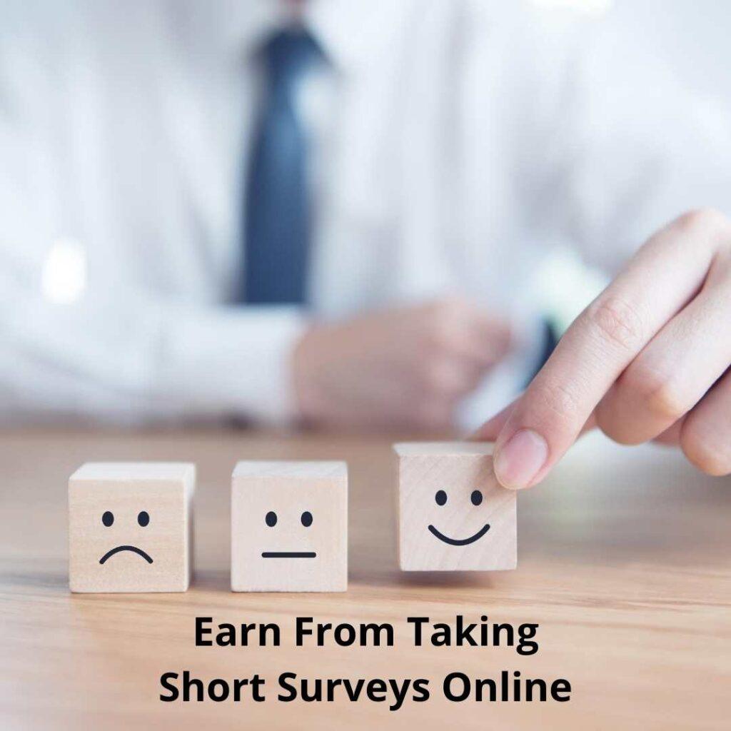 Earn from taking short Surveysonline
