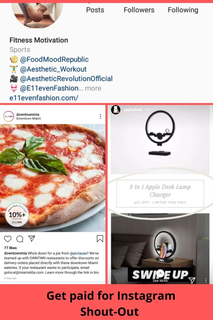 Get paid for Instagram Shout-Out Earn Instagram Money with 0 followings