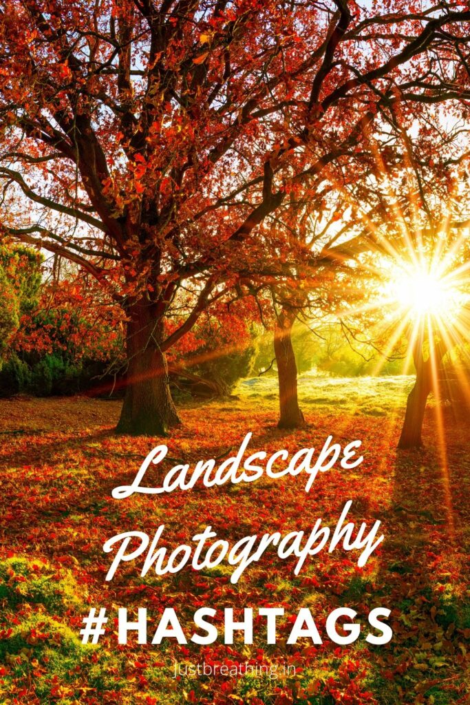 Popular hashtags of #landscape photography hashtags for Instagram pintrest pin