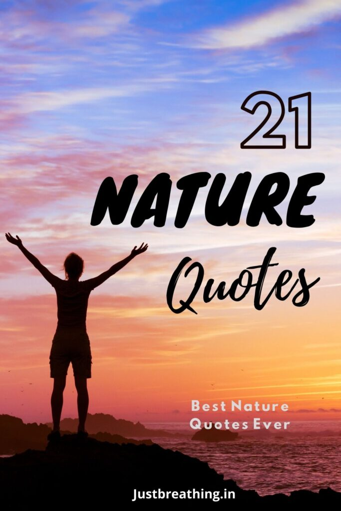 best 21 nature quotes ever for instagram pintrest pin