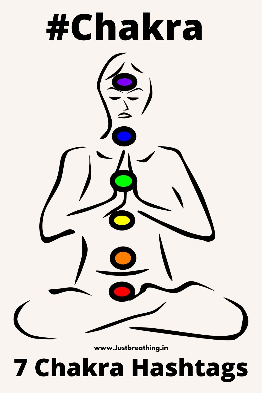 7 Chakra Hashtags - Chakras hashtags - chakra healing hashtags chakra