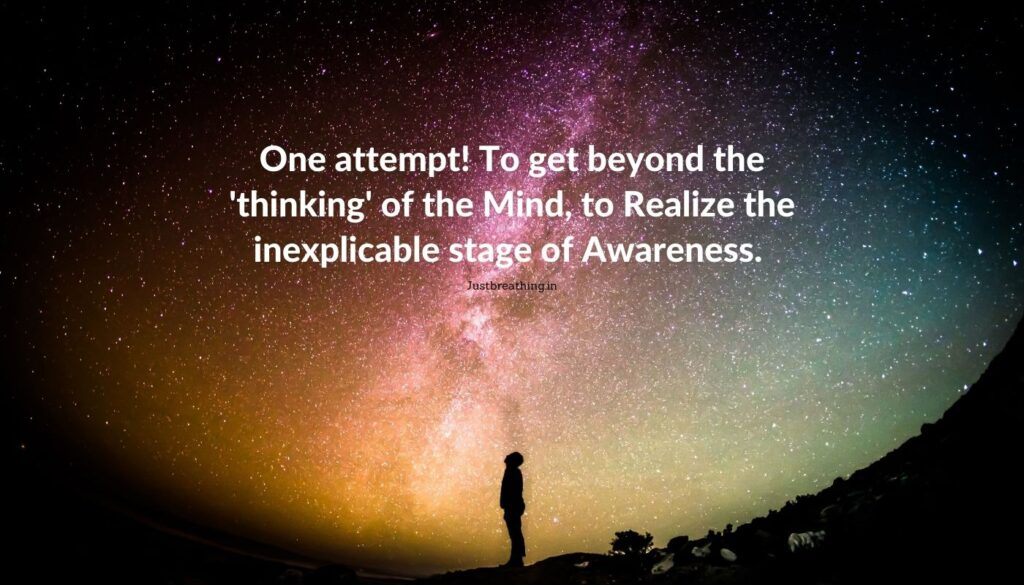 beyond the thinking of the mind - Meditation is the key to unlock wonderful dimensions - The secret of meditation to touch Universal Energy