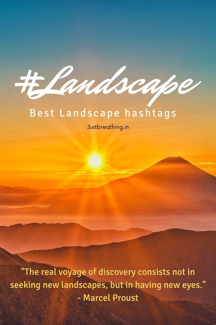 landscape hashtags and landscape photography hashtags for Instagram