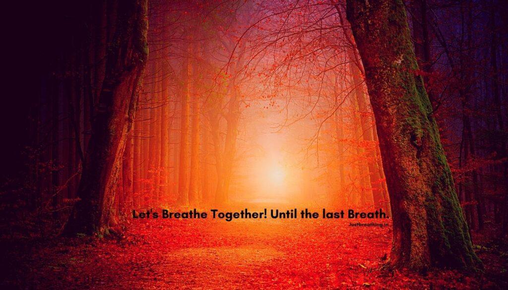The biggest secret of life, the secret of breaths. Let us Breathe Together Until the last Breath